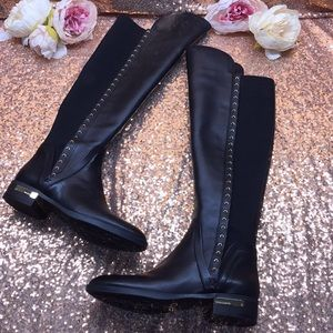 Vince Camuto Black Knee High Boots